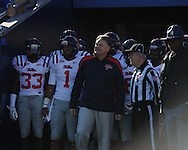 Ole Miss head coach Houston Nutt vs. Kentucky at Commonwealth Stadium in Lexington, Ky. on Saturday, November 5, 2011. Kentucky won 30-13...