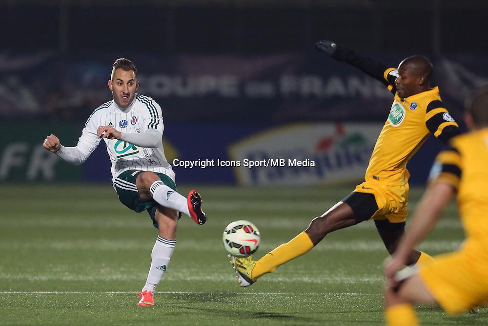 Romuald MARIE - 23.01.2015 - Red Star / Marseille Consolat - Coupe de France<br /> Photo : Sebastien Muylaert / Icon Sport