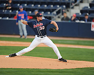 Mississippi'a Aaron Barrett pitches vs. Florida at Oxford-University Stadium on Saturday, March 27, 2010 in Oxford, Miss. Ole Miss won 15-3.
