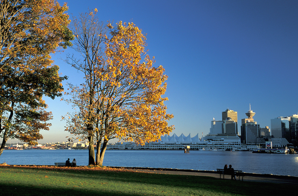 View to Downtown, Stanley Park, Vancouver, British Columbia, Canada