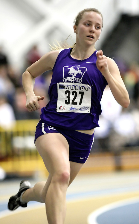 Windsor, Ontario ---13/03/09--- Lisa Grieve of  the University of Western Ontario competes in the 300m Prelims at the CIS track and field championships in Windsor, Ontario, March 13, 2009..Sean Burges Mundo Sport Images