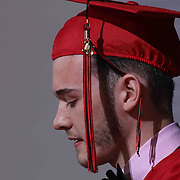 William Penn graduate Andrew Crossman gives Salutatorian remarks to students and family made up of 464 students during William Penn 93rd commencement exercises Monday, June 08, 2015, at The Bob Carpenter Sports Convocation Center in Newark, Delaware.