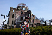 A-Bomb Dome at Hiroshima's Peace Memorial Park.