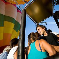 Ferrara 17/09/2011.Ferrara Baloon Fair, Fiera delle mongolfiere..La famiglia Charbonnier di Aosta espone le sue mongolfiere da quella a 4 posti fino alla piu grande d'europa da 22 posti.....ph. Stefano Meluni