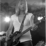 Sonic Youth performs at the 2003 Bonnaroo Music Festival in Manchester, Tennessee..Photo by Bryan Rinnert