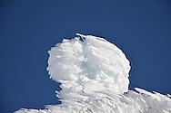 Rime ice at the summit of Mount Washington.