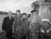 "1953 - Rescue at sea by trawler ""Uncle Pat"" of three men who spent a night in a row boat."
