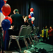 Sarah Palin being interviewed after her win for Governor of Alaska in 2006.