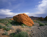 AA01998-01...NEVADA - Beehive rock formation in Valley of Fire State Park.