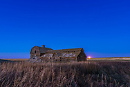 The rising Hunter's Full Moon behind the big old barn near home in southern Alberta, on a very clear autumn night, October 27, 2015. This is one frame from a time-lapse sequence, taken with the Nikon D750 and 24mm Sigma lens. Exposure was 5 seconds at f/5.6 and ISO 800.