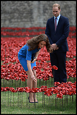 AUG 05 2014 Duke and Duchess of Cambridge and Prince Harry-Tower of London
