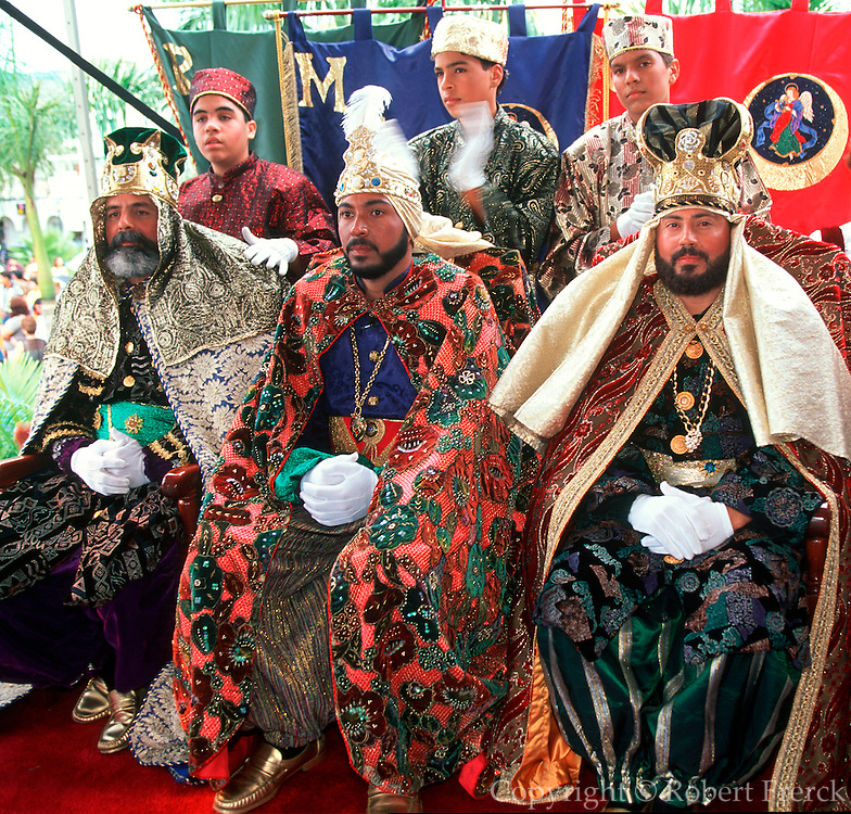 PUERTO RICO, FESTIVALS Three Kings Festival on Jan 6; in Juana Diaz near Ponce, three wisemen (kings) at ceremony