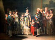 SPAIN, MADRID, PRADO MUSEUM 'The Family of Carlos IV (King of Spain) painted in 1800 by Francisco de Goya (1746-1828)