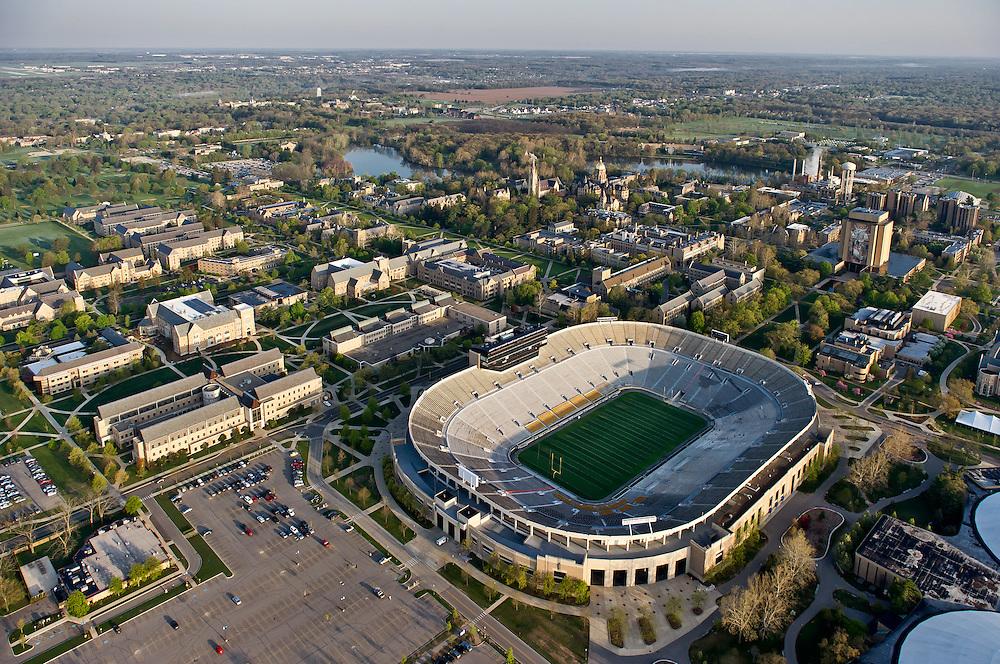 Campus aerial..Photo by Matt Cashore