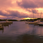 &quot;Dawn at Charlevoix Marina&quot;<br /> <br /> Sunrise at the beautiful Charlevoix City Marina!