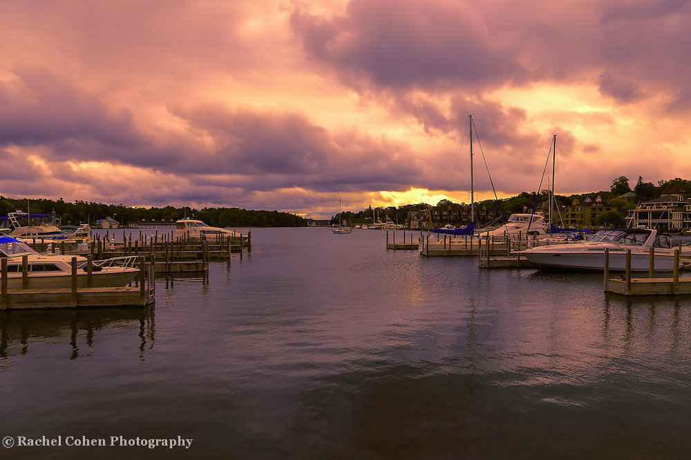 &quot;Dawn at Charlevoix Marina&quot;<br />