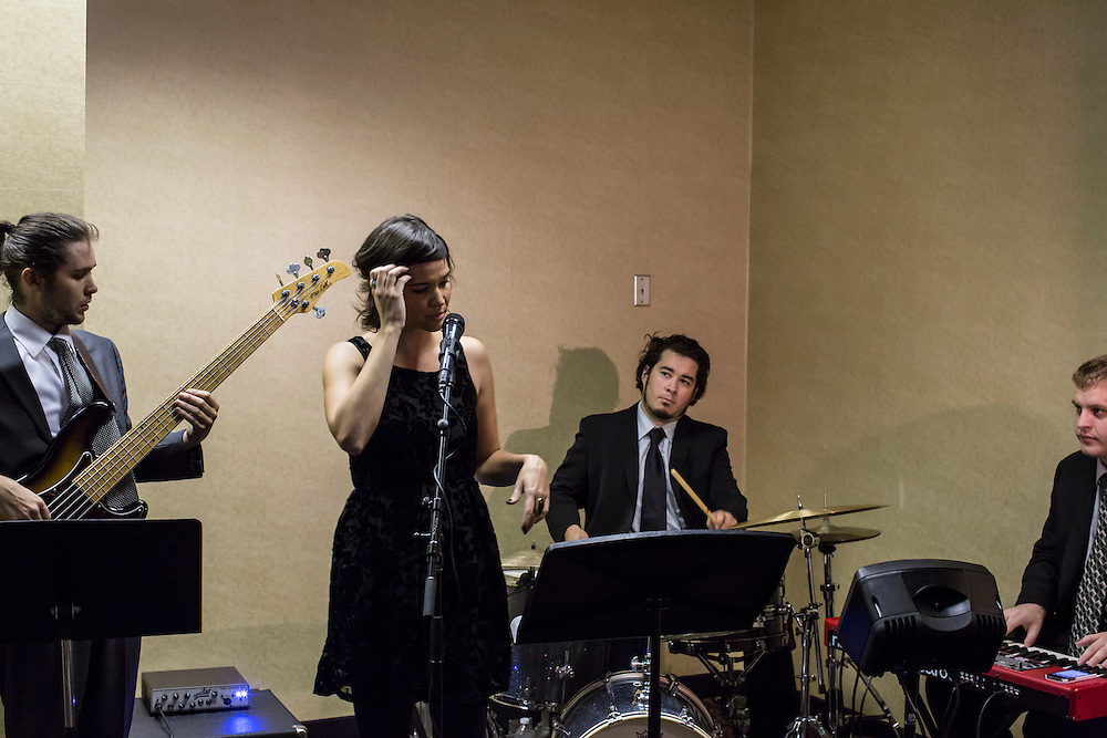 A band performs at a Democratic LDS caucus meeting during the Democratic National Convention on Tuesday, September 4, 2012 in Charlotte, NC.