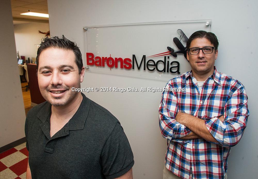 Jim Larkin and Daniel Kornblit, CEO and VP of Operations at Barons Media.<br /> Photo by Ringo Chiu/PHOTOFORMULA.com)