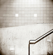 PL10418-00...WASHINGTON - Holga image of railing and wall in the Seattle Center