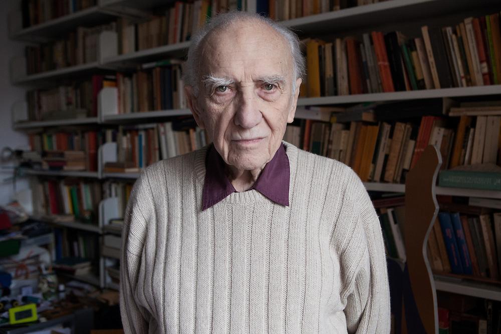 Milan, Italy, December 16, 2016. Giancarlo Majorino, Poet and critic born in Milan.