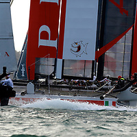 Action from the Fleet Races with Luna Rossa - Piranha at  the America's Cup World Series in San Francisco. Mandatory Credit: Dinno Kovic