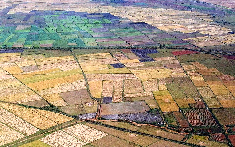 Aerial shots of Burma.
