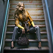 SHOT 8/20/2006 - Larimer Square 2006 fashion campaign - fall clothing. Shot in an alleyway in Larimer Square in Downtown Denver, Co. Image shot with a lensbaby..(Photo by Marc Piscotty/ © 2006)