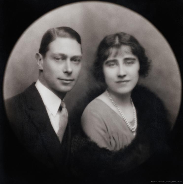 Royal Family: King George, Duke of York and Lady Elizabeth Bowes-Lyon, England, UK, 1923