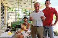 A family in San Cristobal, Artemisa, Cuba.