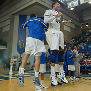12/30/11 Newark DE: Delaware Junior Forward #44 Jamelle Hagins being introduced prior to a NCAA basketball game against Temple Friday, Dec. 30, 2011 at the Bob carpenter center in Newark Delaware.<br /> <br /> Rahlir Jefferson-Hollis led the Owls with 13 points and eight rebounds, Anthony Lee added a career-high 12 points, seven rebounds, and three blocks, Juan Fernandez contributed 11 points, and Ramone Moore chipped in with 10 points and a game-high six assists.