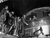 1959 - Schoolboys visit Engine Repair Shop at C.I.E., Inchicore
