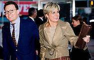 UTRECHT - Koningin Beatrix en prinses Mabel komen aan bij het Beatrix theater. De vorstin viert met bijna de voltallige koninklijke familie en met personeel, medewerkers en andere genodigden haar 75e verjaardag. maxima en willem alexander