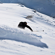 Ski touring Andermatt - kicking some powder