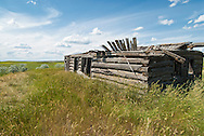 Abandoned homestead cabin, east of Winifred, Montana, near Upper Missouri River Breaks National Monument