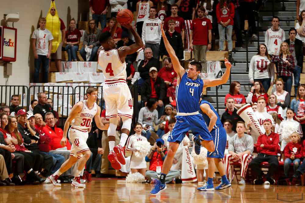 Abilene Christian Wildcats guard Jovan Crnic (4) in action as IPFW played Indiana in an NCCA college basketball game in Bloomington, Ind., Wednesday, Dec. 9, 2015. (AJ Mast)
