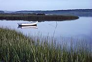 Westhampton, Dinghy, New York. Marsh, Long Island, South Fork