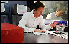 SEP 09 2013 File Photo - Prime Minister David Cameron leaves official red box behind on train
