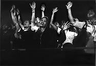 Filipinos at a mass Fundamentalist Christian Revival, Benny Hinn Miracle Crusade, Manila, Philippines.