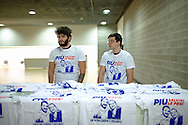 28 January 2016, Milan, Italy - T-shirt for sale to ten euros with the slogan of the first Europe of Nations and Freedom (ENF) congress, MiCo Palace Milan.