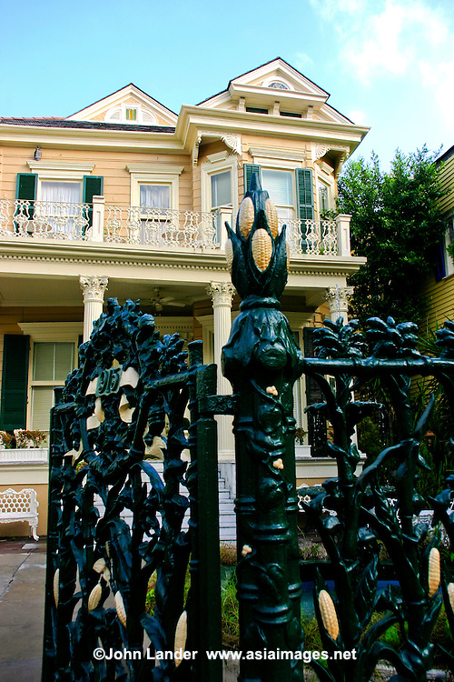 Cornstalk Hotel New Orleans - The gorgeous French Quarter Victorian is on the National Register of Historic Places, and is famous as a tourist attraction.  The 'cornstalk' fence was erected in 1840 by the owner, recently married, who wanted to please his bride because of her homesickness for her home state of Iowa.  <br />