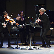 Antoine Tamestit, Leif Ove Andsnes and Martin Fröst perform works by Mozart and Kurtág at the 66th Ojai Music Festival on June 9, 2012 in Ojai, California.