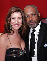 28 April 2006: James Pickens and Kate Walsh of Grey Anatomy in the Exclusive behind the scenes photos of celebrity television stars in the STAR greenroom at the 33rd Annual Daytime Emmy Awards at the Kodak Theatre at Hollywood and Highland, CA. Contact photographer for usage availability.