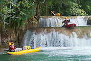 Kayaking down the drop pools of the Moho River, Belize