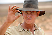 Oliver Wenn (Louis Carron) - 'Blood In The Sand' - on location CUE  Western Australia - Still photograph by David Dare Parker