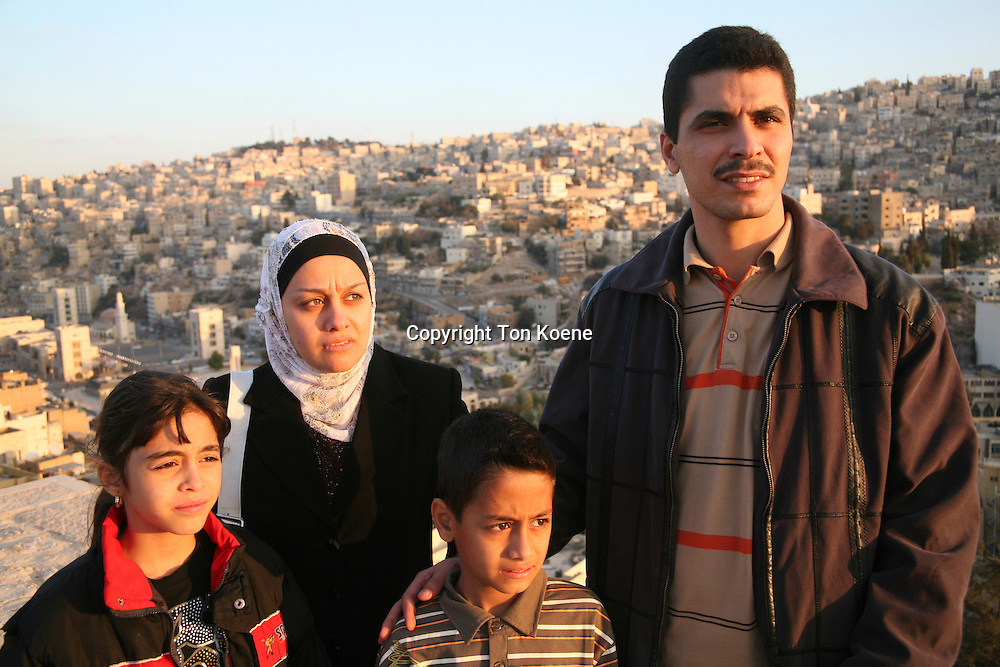 Refugee family from Iraq in Amman, Jordan