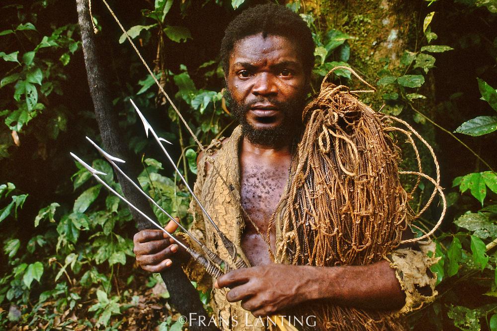 Bushmeat hunter, Wamba, Congo (DRC)