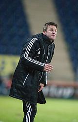 Livingston's manager Gareth Evans..Falkirk 2 v 0 Livingston, 19/2/2013..©Michael Schofield.