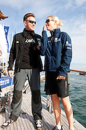 10th August 2011. Cowes. Isle of Wight..Pictures showing Ewan Mcgregor and Zara Phillips before The Artemis Challenge round the Island race during Aberdeen Asset Management Cowes Week 2011...Credit: Lloyd Images.