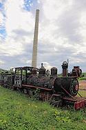 Old locomotive in Guaos, Cienfuegos, Cuba.