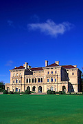 "Image of Vanderbilt's mansion ""The Breakers"" along the Cliff Walk at the seaside town of Newport, Rhode Island, America Northeast"